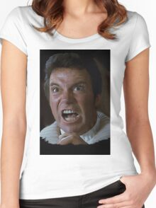 William Shatner Captain Kirk / Khan digital painting Women's Fitted Scoop T-Shirt