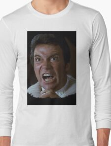 William Shatner Captain Kirk / Khan digital painting Long Sleeve T-Shirt
