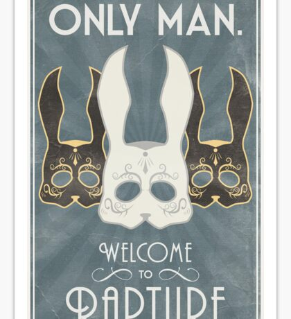 Bioshock - Rapture Poster - No gods or Kings Sticker