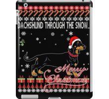 Dachshund Through The Snow Shirt Xmas Christmas Shirts iPad Case/Skin