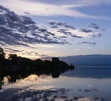 Purple Sunrise Clouds by Georgia Mizuleva