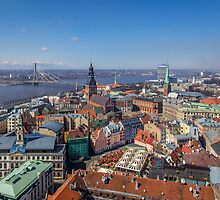 Top of Riga by Maciej Nadstazik