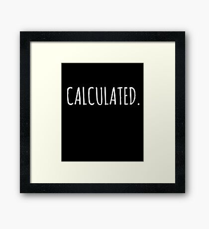 Rocket Leaugue Video Game Calculated Funny Gifts Framed Print