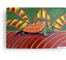 409 - ALLIGATOR SNAPPING TURTLE - DAVE EDWARDS - COLOURED PENCILS - 2014 Canvas Print