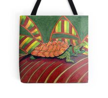 409 - ALLIGATOR SNAPPING TURTLE - DAVE EDWARDS - COLOURED PENCILS - 2014 Tote Bag