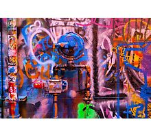 Camouflaged Pipework Photographic Print