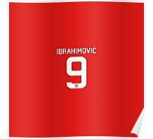 Ibrahimovic Number Nine Poster