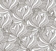 Floral seamless pattern by Tatsiana Kandrashova