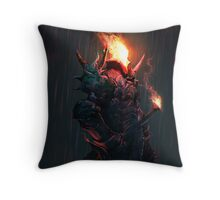 Black Knight II Throw Pillow