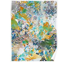 Springtime Painted Abstract Poster
