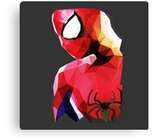 Low Poly Spider-Man Canvas Print