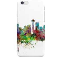 Seattle Washington Skyline iPhone Case/Skin