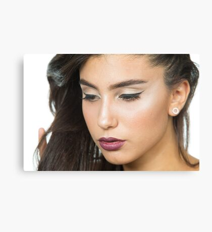 Beautiful Woman with Evening Make-up Canvas Wall Print Canvas Print