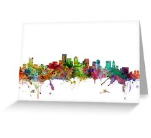 Boston Massachusetts Skyline Greeting Card