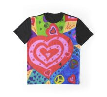 Port Dahlia Peace and Love Graphic T-Shirt