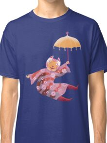 Magic Cat with Parasol Classic T-Shirt
