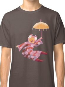 Magic Cat with Parasol Classic T-Shirt