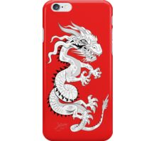 White Dragon on Red iPhone Case/Skin