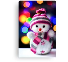 Snowman Toy Canvas Print