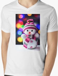 Snowman Toy Mens V-Neck T-Shirt