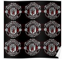 Black Red United Fabric  Poster