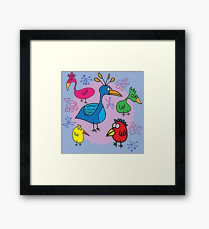 Bird Brains 03 Framed Print