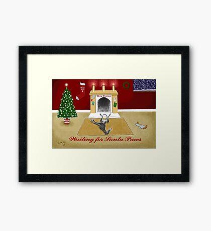 Waiting For Santa Paws Framed Print