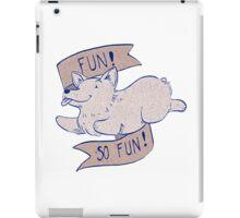 Corgi Fun - blue and brown iPad Case/Skin