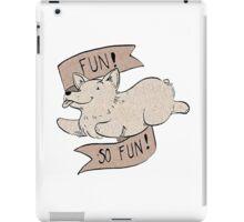 Corgi Fun - paper brown iPad Case/Skin