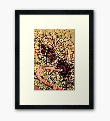 Hay Rake Framed Print