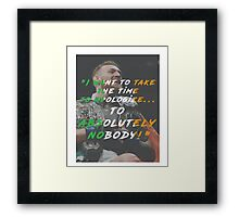 Absolutely Nobody Framed Print
