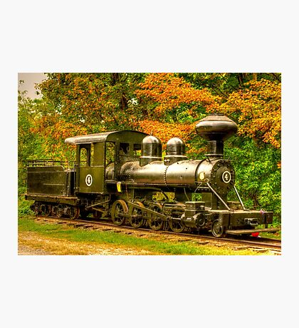 Old Train Engine Photographic Print