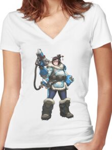 OVERWATCH MEI Women's Fitted V-Neck T-Shirt