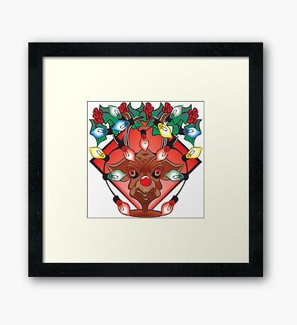Unhappy Reindeer - #2 Framed Print