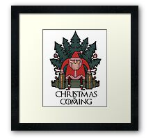 Christmas Is Coming Tshirt Framed Print