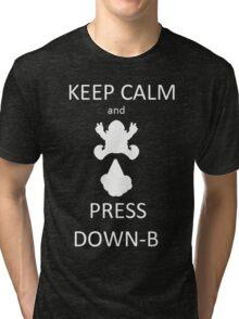 Wario DOWN-B Tri-blend T-Shirt
