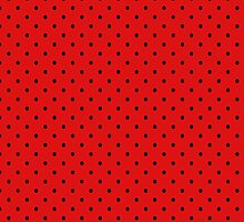 Red and Black Polka Dot Pattern by sale