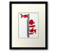 Fish and Flute Framed Print