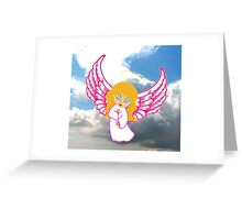 A Child Angel in Clouds Greeting Card