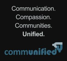 Communication. Compassion. Communities. Unified. One Piece - Short Sleeve