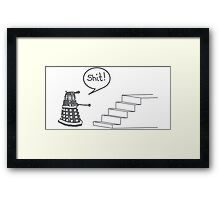 Shit Dalek Framed Print