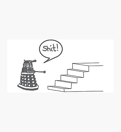 Shit Dalek Photographic Print