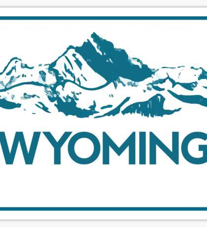 Wyoming Mountains Sticker