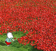 Pup in the poppies by GarryVaux