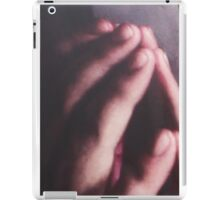 Touch the mirror it feels smoothe and cold iPad Case/Skin