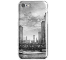 City - Chicago, IL - Looking toward the future - BW iPhone Case/Skin