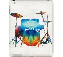 Drum Set Art - Color Fusion Drums - By Sharon Cummings  iPad Case/Skin