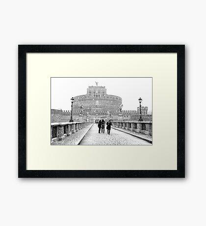 Rome Snowfall Framed Print