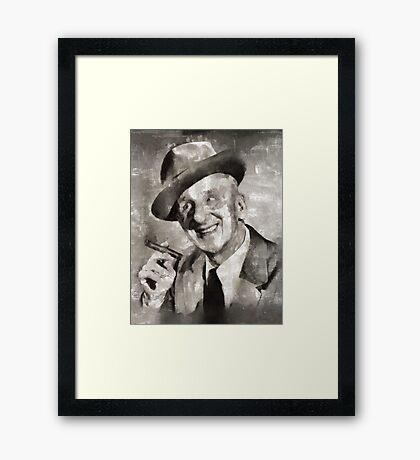 Jimmy Durante, Comedian Framed Print