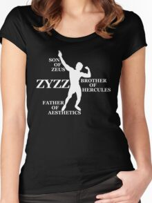 Zyzz Son of Zeus White Women's Fitted Scoop T-Shirt